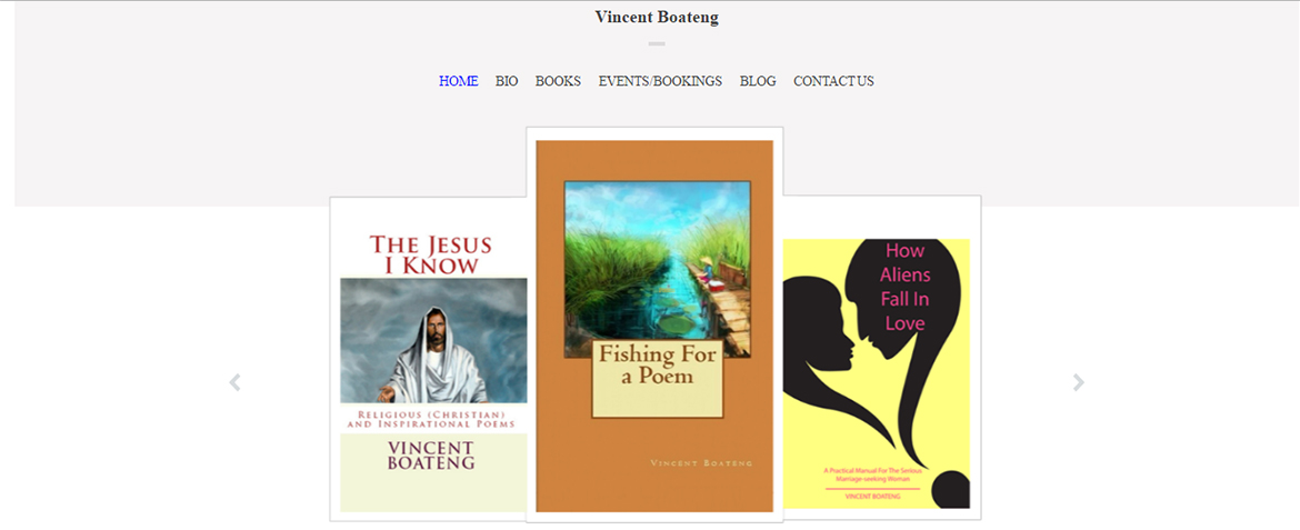 Author Vincent Boateng located in Tysons Corner, Virginia 22102