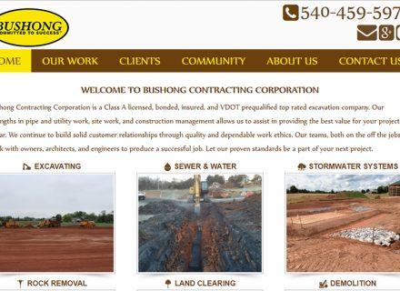 Bushong Contracting located in Woodstock, Virginia 22664