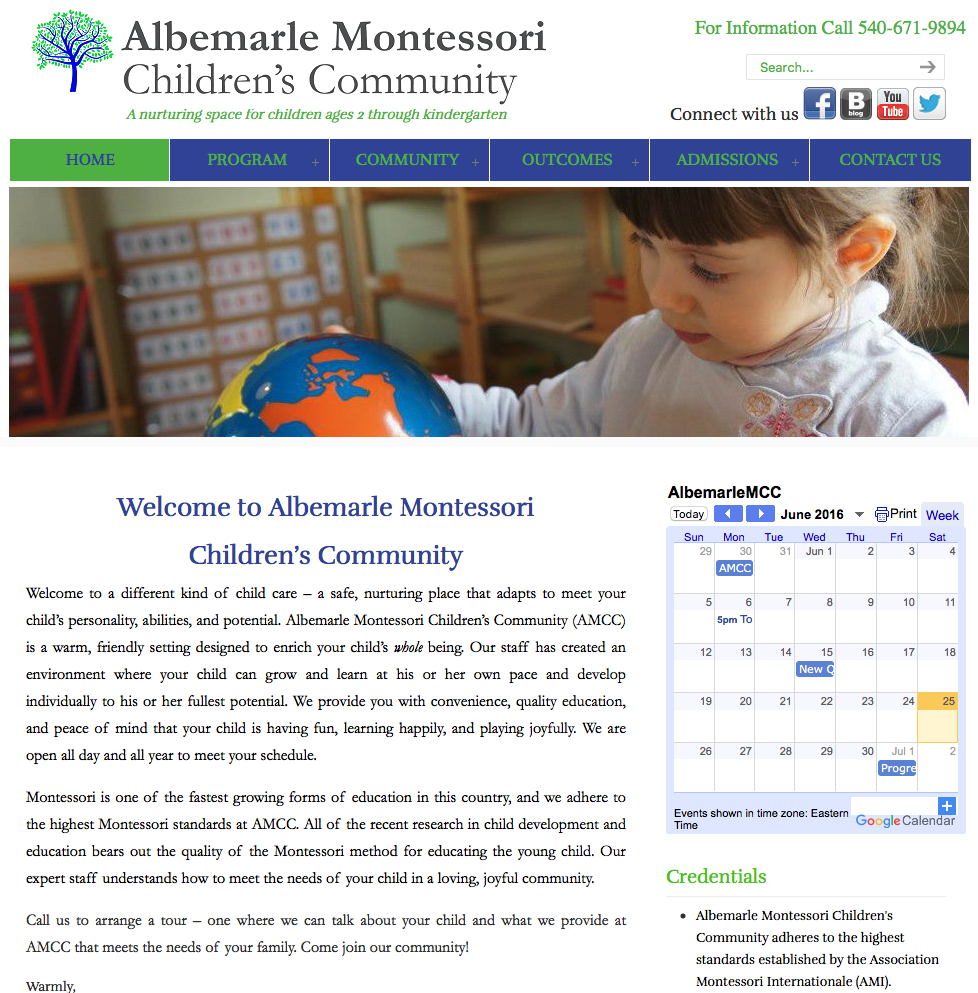 Albemarle Montessori Children's Community located in Charlottesville, VA 22911